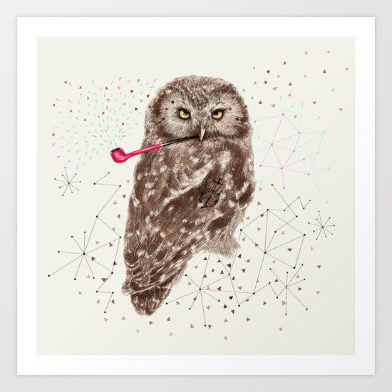 Mr.Owl III Art Print