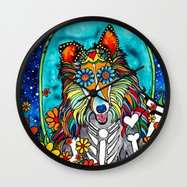 Colby the Collie Wall Clock