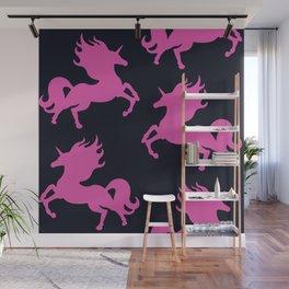 Visible Invisible Pink Unicorn Wall Mural