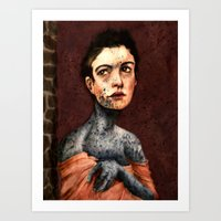 les miserables Art Prints featuring Les Miserables- Fantine by Mawhyah