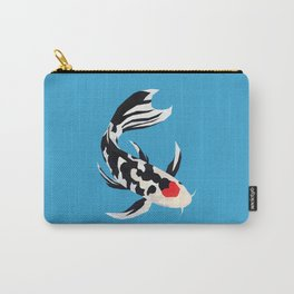 Geo Koi Black & White Carry-All Pouch