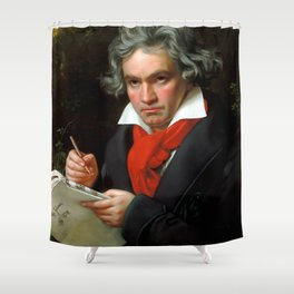 Ludwig van Beethoven (1770-1827) by Joseph Karl Stieler, 1820 Shower Curtain