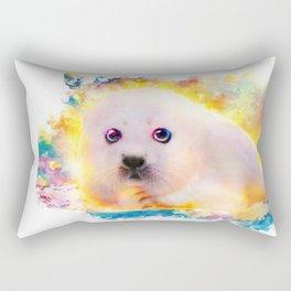 curious seal Rectangular Pillow