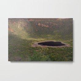 El Sod Extinct Volcano Crater Lake Landscape Ethiopia Metal Print