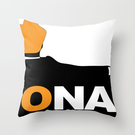 The Mad Man. Throw Pillow