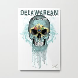 To The Core Collection: Delaware Metal Print