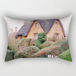 Thatched Roof Cottage Cotswolds England Rectangular Pillow