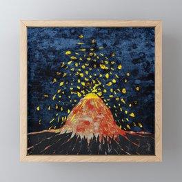 Erupting volcano Framed Mini Art Print