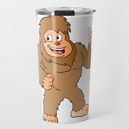Bigfoot cartoon Travel Mug