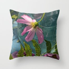Clipping Wildflowers Throw Pillow