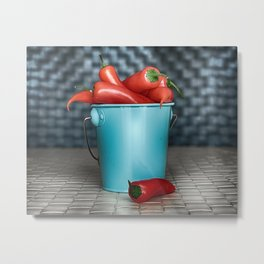 I Want Chilli Peppers Metal Print