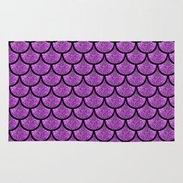 Purple mermaid scale with  glitter effect Rug