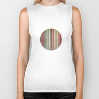stripes Biker Tanks featuring Stripes by thinschi