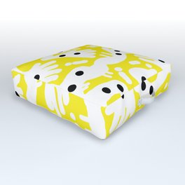 Yellow wave Outdoor Floor Cushion