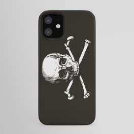 Skull and Crossbones | Jolly Roger | Pirate Flag | Black and White | iPhone Case
