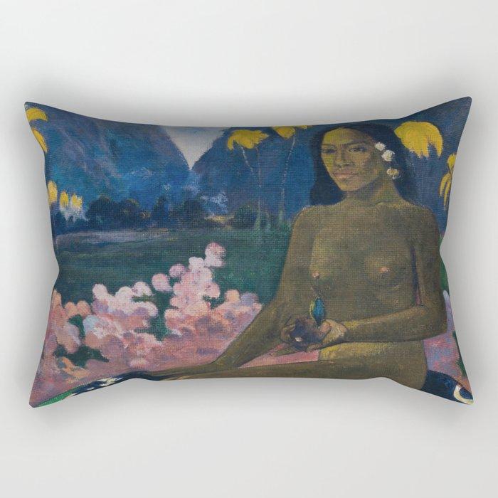 The seed of the Areoi (Te aa no areois) - Paul Gauguin (1892) Rectangular Pillow