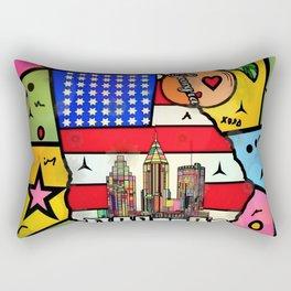 Atlanta New Popart by Nico Bielow Rectangular Pillow