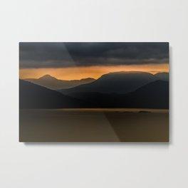 Sea to Sky Misty Mountains Metal Print