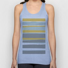 Stripe Abstract, Sun and Beach, Yellow, Pale, Aqua Blue and Gray Unisex Tank Top