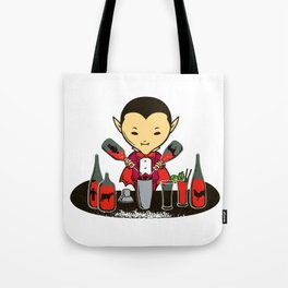 Count Dracula and the Halloween party Tote Bag