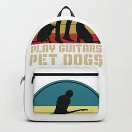 Guitar Vintage Pet Dogs Backpack