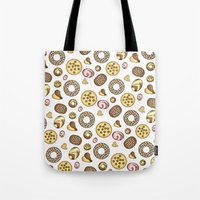 cookies Tote Bags featuring Cookies ♥ by Martina Marzullo Art