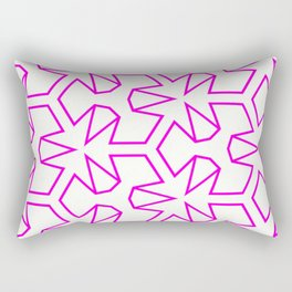 Van Zwaben Pink Neon Pattern Rectangular Pillow