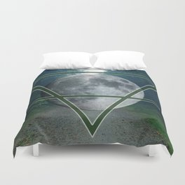 Lunar Earth Duvet Cover