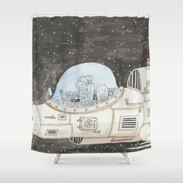 And so it begins again Shower Curtain