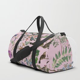 Bird menagerie mauve Duffle Bag