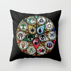 Magic the Gathering - Stained Glass Throw Pillow