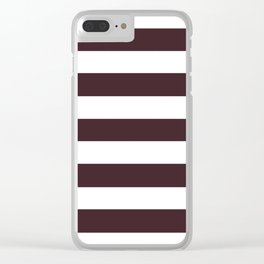 Temptress - solid color - white stripes pattern Clear iPhone Case