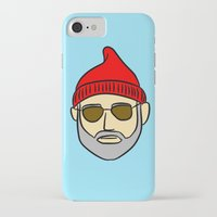 steve zissou iPhone & iPod Cases featuring Steve Zissou by CozyReverie