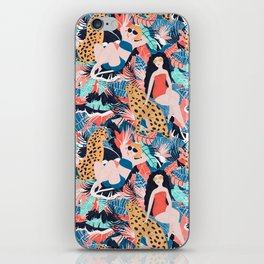 Tropical Girls with Cheetah iPhone Skin
