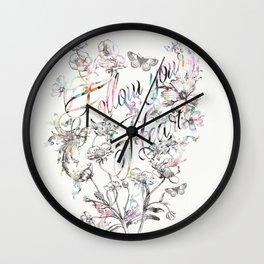 Follow your heart by Luca Johnson Wall Clock