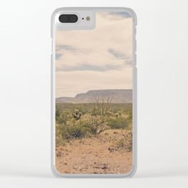 Down Desert Roads II Clear iPhone Case
