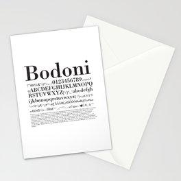 Bodoni (Black) Stationery Cards