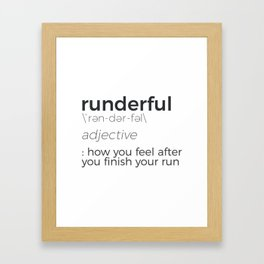 Adrenaline Rush Runner's High Running Is Life Run Design Framed Art Print
