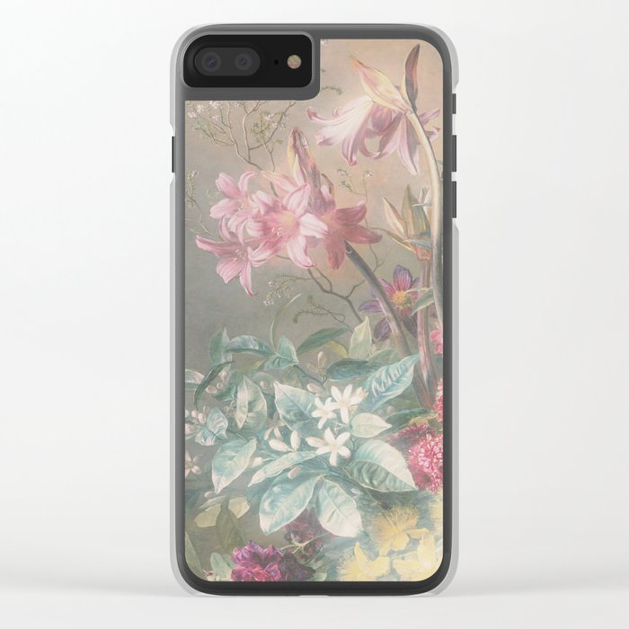 Misty Jungle Dusk Clear iPhone Case