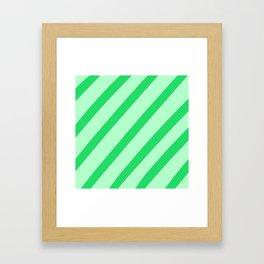 Leaf Stripes Framed Art Print