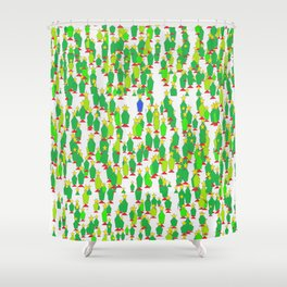 One Blue Christmas Shower Curtain