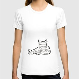 Cat lover silhouette T-shirt