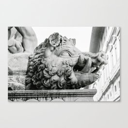Head of wild boar, Florence, Italy photography by Larry Simpson Canvas Print
