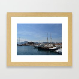 Marmaris Yachting Marina - Netsel Framed Art Print