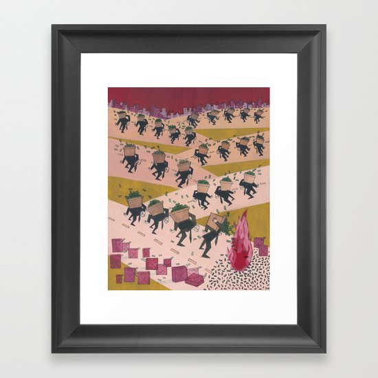 Bailouts Framed Art Print