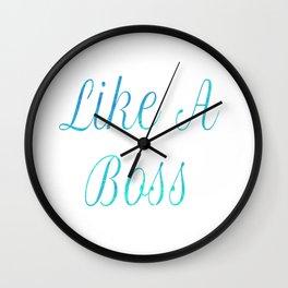 Like A Boss Travel Mug Wall Clock