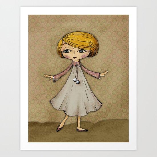 Julia Loves Dancing Art Print
