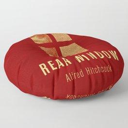 REAR WINDOW - Hitchcok Poster Floor Pillow