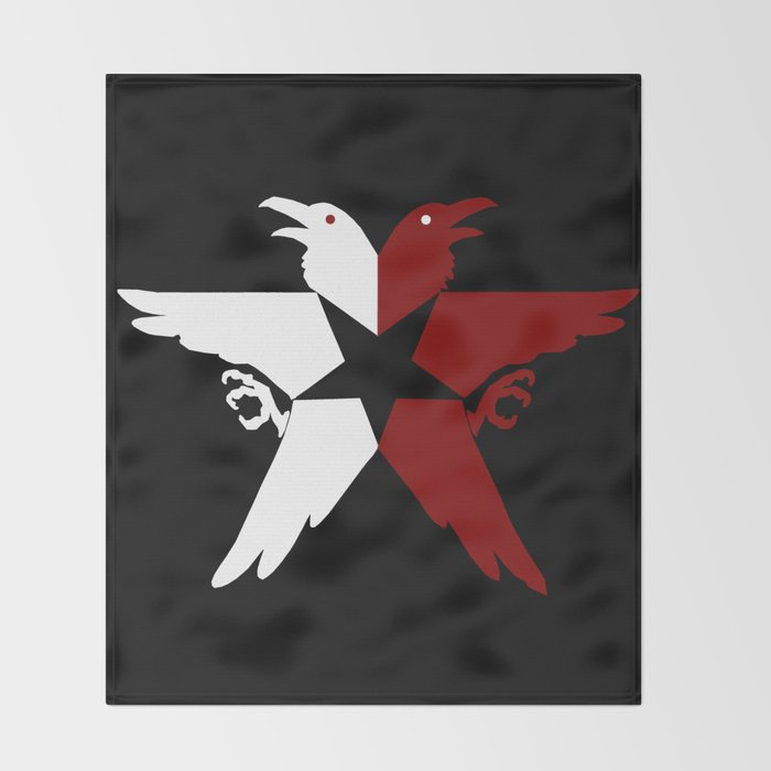 Infamous Second Son Jacket Bird Logo Solid Throw Blanket By