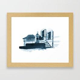 Swiss Fountain Framed Art Print